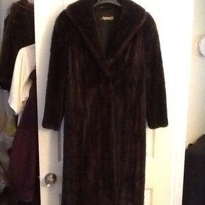 Antonovich Mink Full Length Brown Fur Coat Amazing